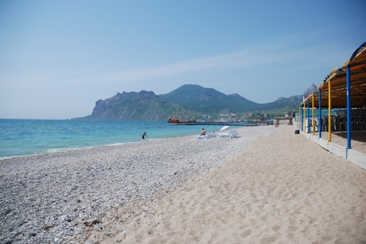 Koktebel brigantina beach