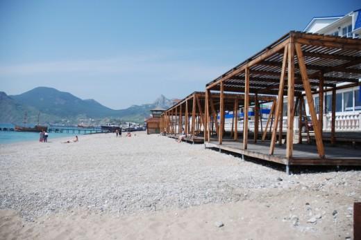 Koktebel Santorini beach