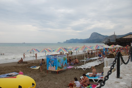 Sudak Aquapark beach