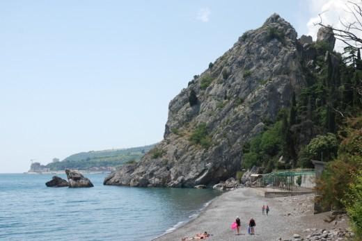 gurzuf kiparisny beach